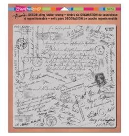 Stampendous SPD stamp decor cling 8x8 script