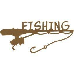 """Scrapbook Studios SS fishing die cut 6"""""""