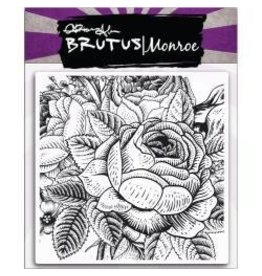 Brutus Monroe BM stamp background rose