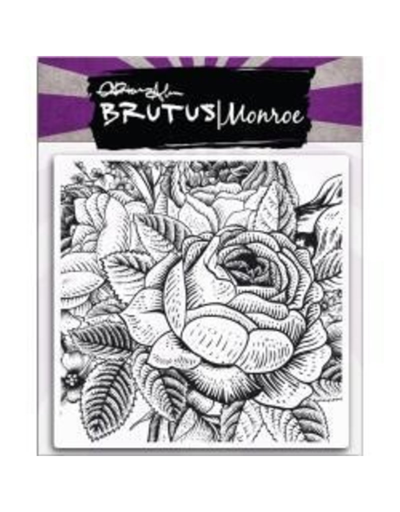 Brutus Monroe BM stamp background rose