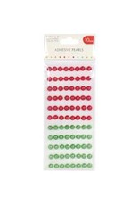 Trim Craft SC pearls red/green 10mm
