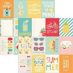 Simple Stories 12SS summer days 3x4 journal cards