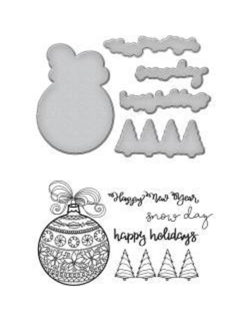 Spellbinders SP die and stamp ornaments
