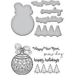 Spellbinders SP die and stamp ornaments