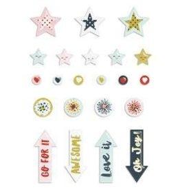 Fancy Pants FP puffy stickers dream big
