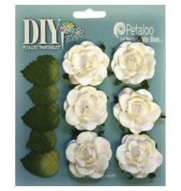 Petaloo Ploo white rosettes