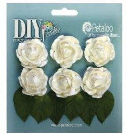 Petaloo Ploo white rosettes bud