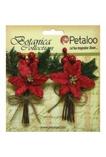 Petaloo PLoo poinsettia with pine cone