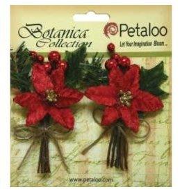 Petaloo PLoo poinsettia with pine cone