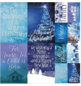 Reminisce RM 12x12 sticker sheet blue Christmas