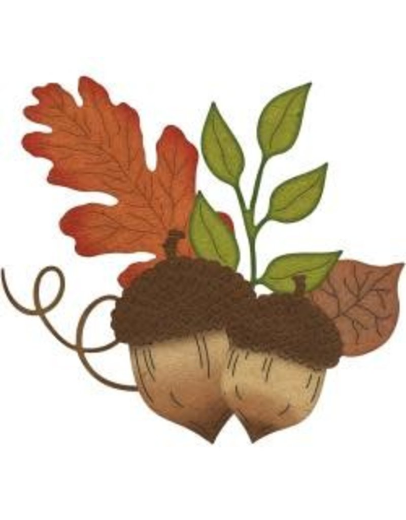 Cheery Lynn Designs CLD die acorns and leaves