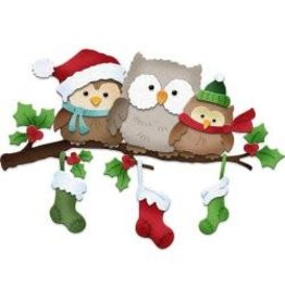 Cottage Cutz CC die holiday owls
