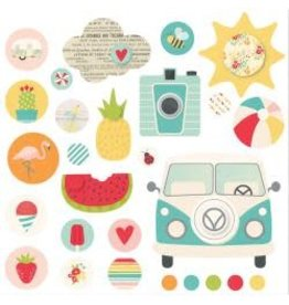 Simple Stories SS summer days brads