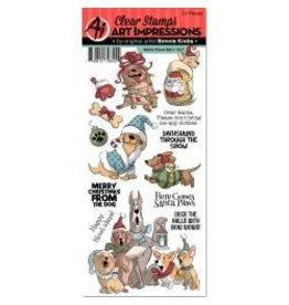 Art Impressions AI stamp Santa paws
