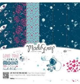 Elizabeth Carft Designs ECD 12x12 love you to the moon