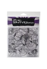 Brutus Monroe BM background stamp tangled ornaments