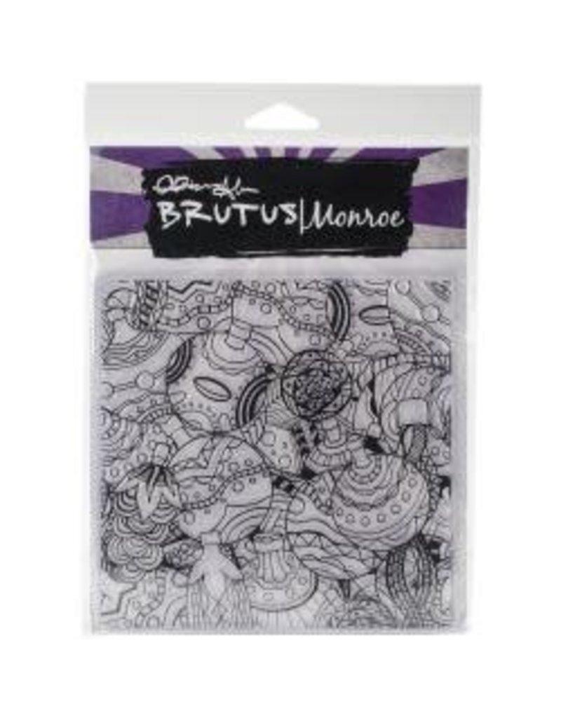 Brutus Monroe BM background stamp tangled ornaments