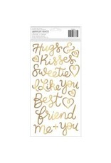 American Crafts AC thickers Caroline words