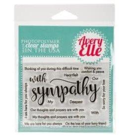 Avery Elle AE stamp sympathy