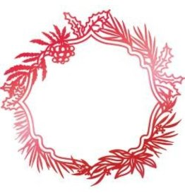 Couture Creations CC hotfoil stamp wreath