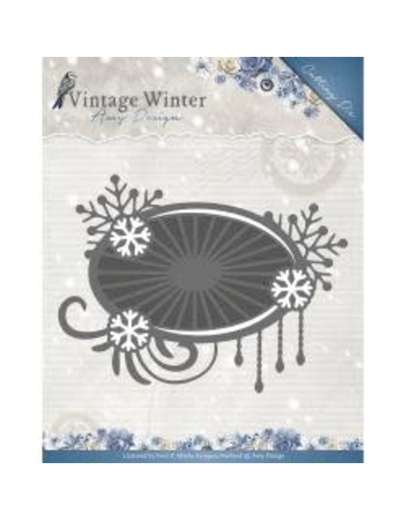Amy Design AD die snowflake swirl label