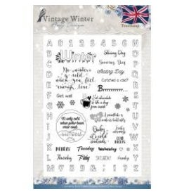 Amy Design AD stamp vintage winter