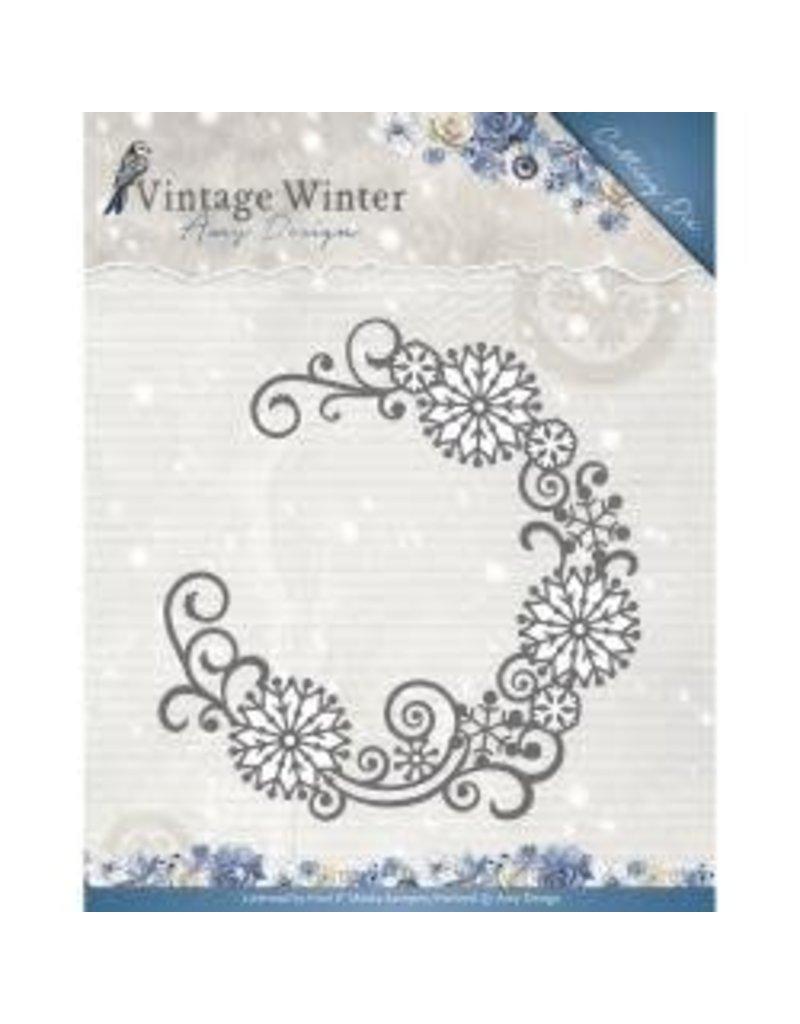 Amy Design AD die snowflake swirl round