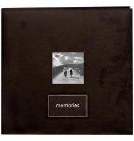 Pioneer Pioneer album 12x12 brown faux suede