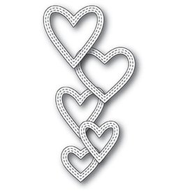 Memory Box MB die classic double stitched hearts