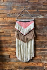 """17""""Lx36""""H Wool & Cotton Wall Hanging"""