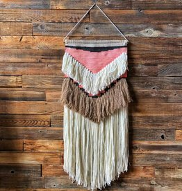 "17""Lx36""H Wool & Cotton Wall Hanging"