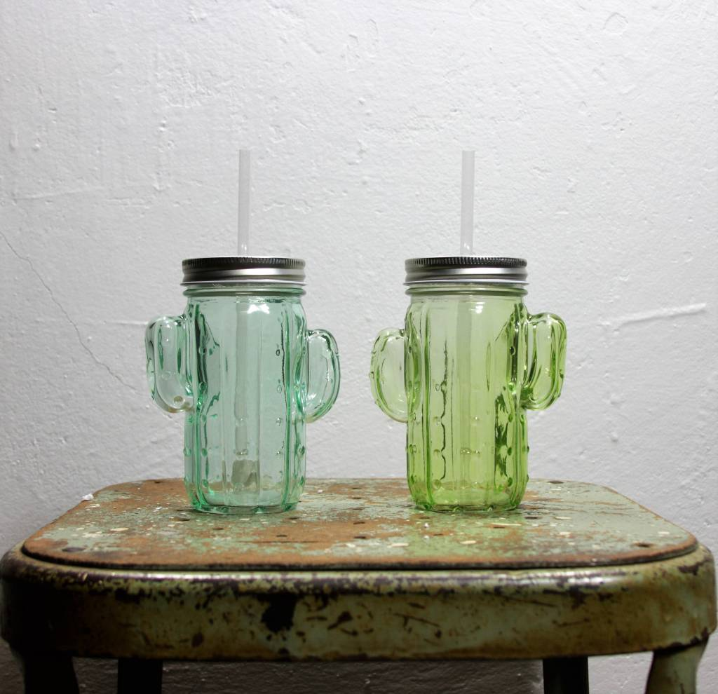 The Cactus Glass with Straw