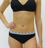 Melika Melika Avery Swim Bottom Black/White Diamonds