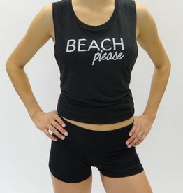 Melika Melika Beach Please Muscle Tank Black Heather