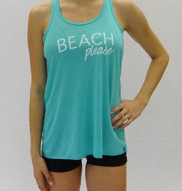 Melika Melika Beach Please Racer Tank Bright Turquoise