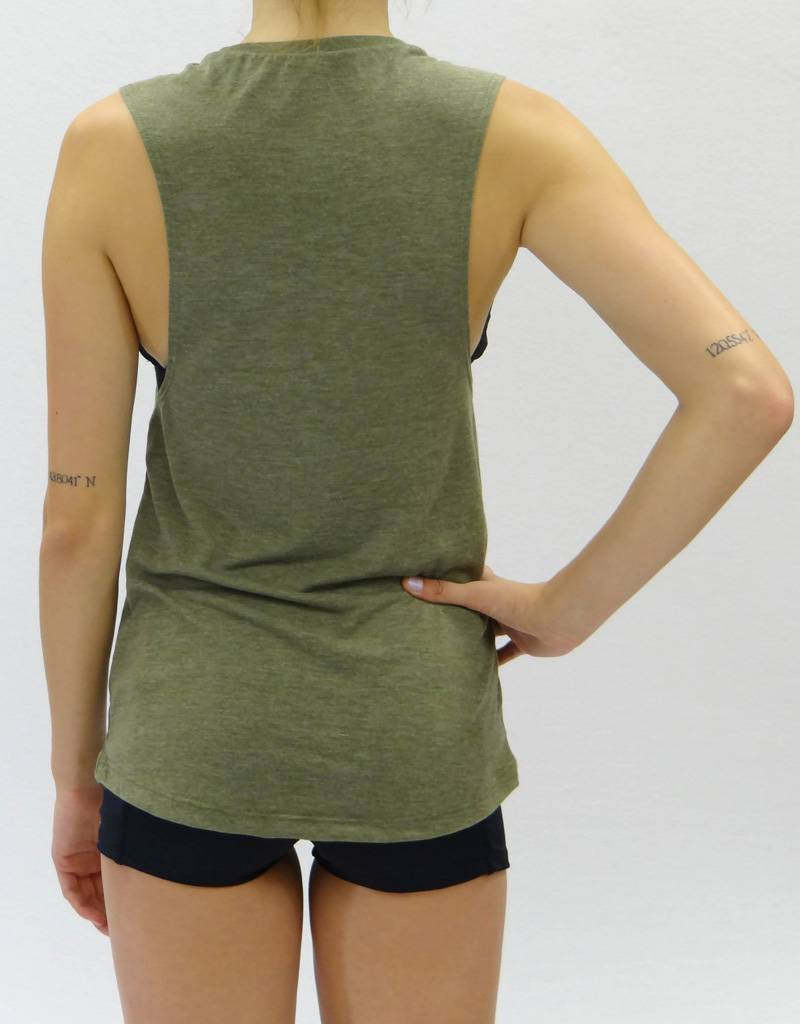 Melika Melika SUP Girl Muscle Tank Olive Heather
