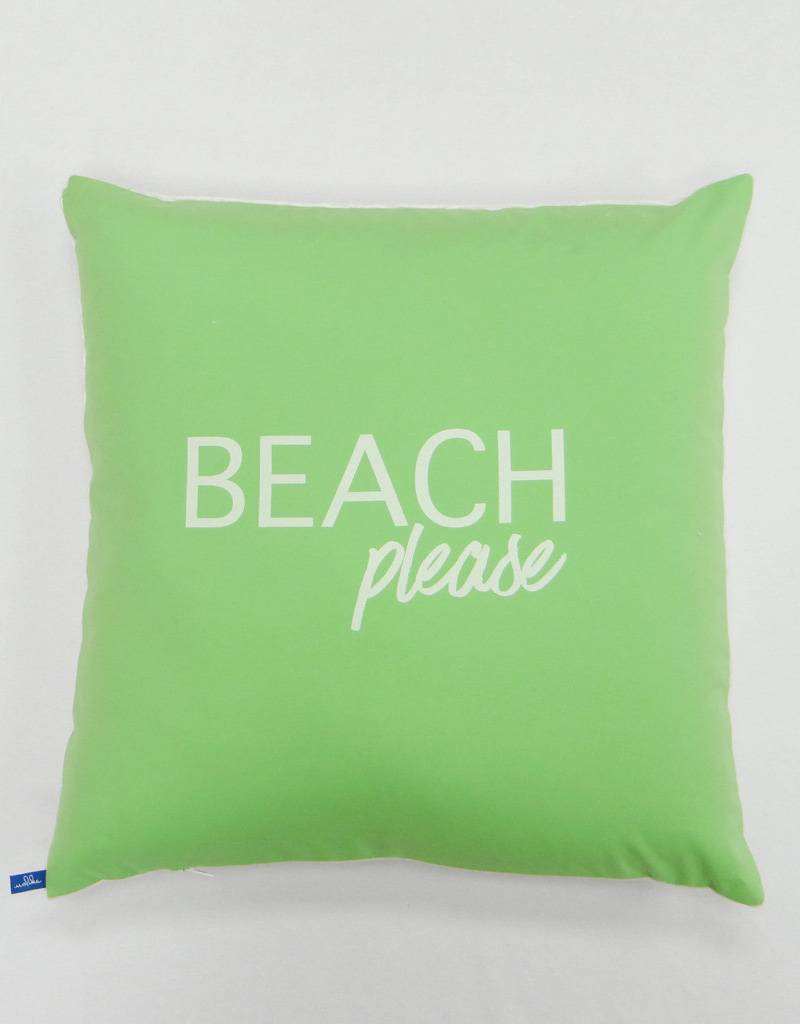 Melika Melika Throw Pillow Beach Please Apple