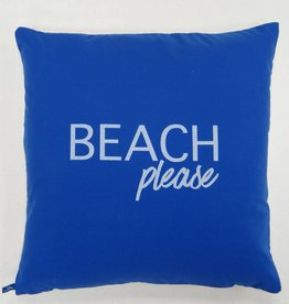 Melika Melika Throw Pillow Beach Please Marine