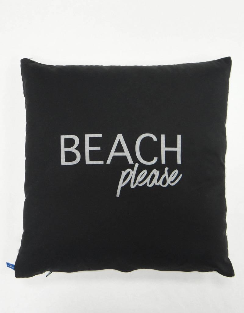 Melika Melika Throw Pillow Beach Please Black