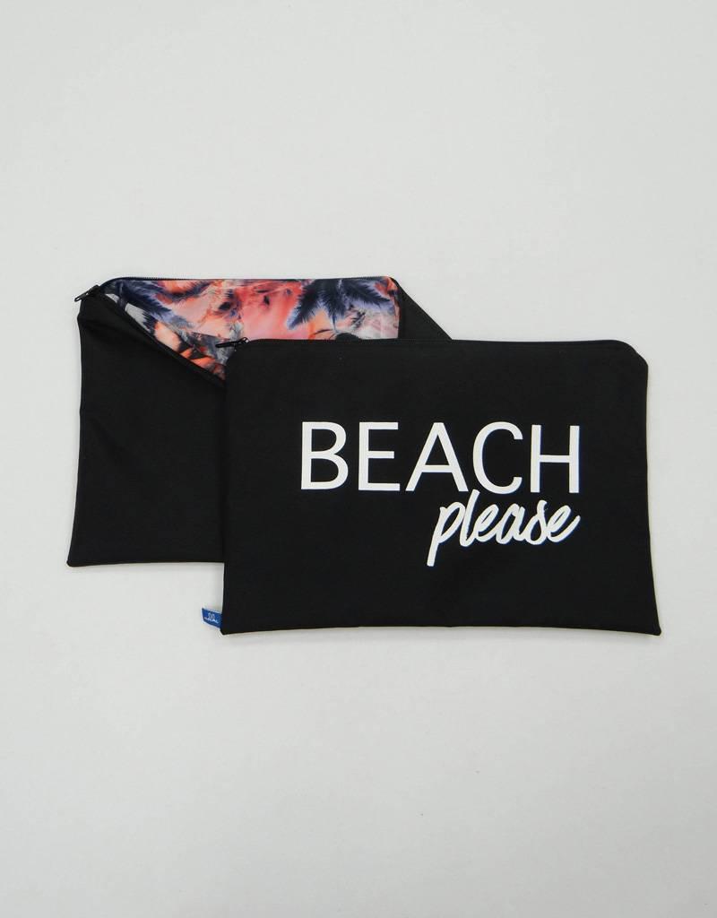 Melika Melika Bikini Bag Black/Star Palm
