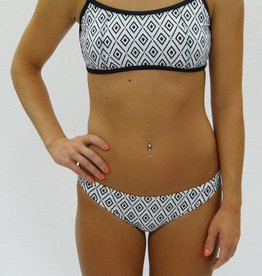 Melika Melika Olivia Bikini Top White Diamonds