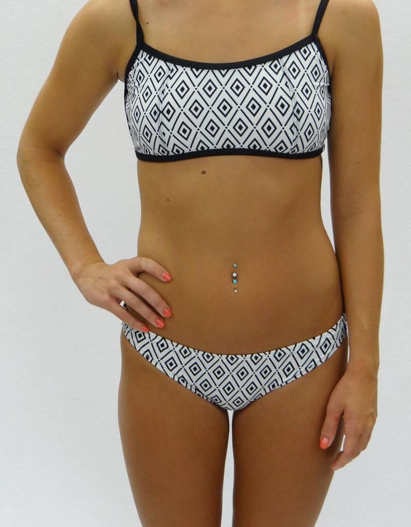Melika Melika Olivia Bikini Top White Diamonds