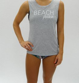 Melika Melika Beach Please Muscle Tank Grey Heather