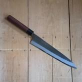Yoshikane 240mm Wa-Gyuto Shirogami Tsuchime Red Ebony