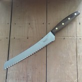 "Windmuehlenmesser 'KB2' 8.75"" Double Bevel Bread Knife Stainless Walnut Handle"