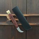 Windmuehlenmesser Mushroom Knife Plum Handle w/ Leather Pouch