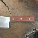 """Unmarked 5.5"""" Carbon Steel Cleaver"""