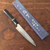 15% off TESTER Yoshikazu Ikeda Suminagashi 150mm Petty Aogami #1 Octagonal Ebony & Bone Spacer