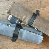 EvenOdd Waxed Canvas/ Bike Tube Knife Roll w/ Strap Charcoal