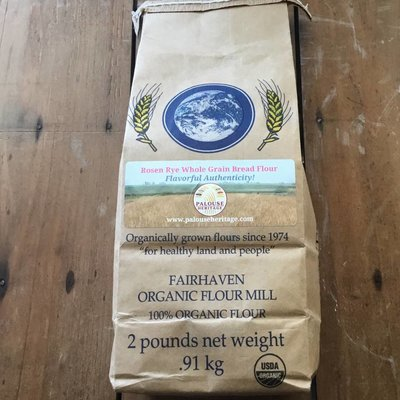 Rosen Rye Organic Whole Grain Stone-Milled Flour (2lbs)